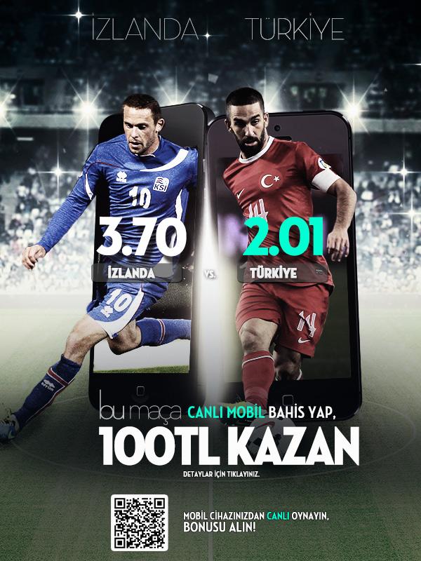 Bets10 İzlanda Türkiye Maçına Mobilde 100 TL Bonus
